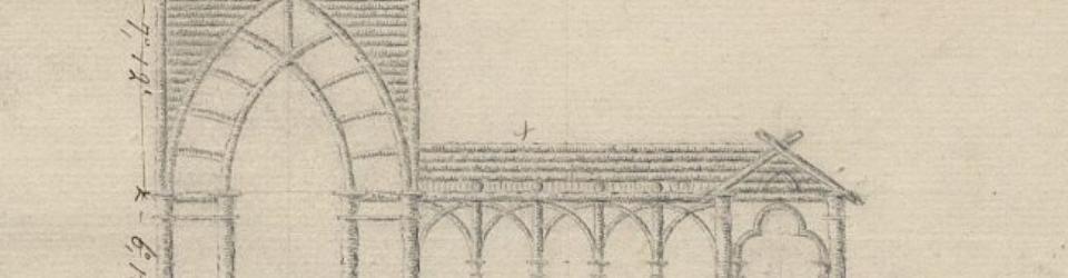 Projekt altany - zamku w stylu neogotyckim, Piotr Aigner, ok. 1811